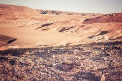 Colorful pink hills under the Sunny sky Royalty Free Stock Photos
