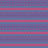 Colorful pink turquoise woven ethnic geometric striped seamless vector pattern background for fabric, wallpaper vector illustration