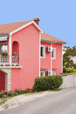 Colorful pink  vacation house Stock Images