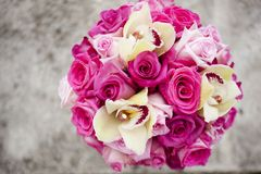 Colorful pink wedding bouquet Royalty Free Stock Image