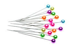 Colorful pins stock photography