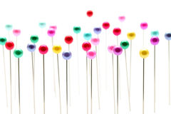 Colorful pins. On white background Royalty Free Stock Images