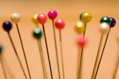 Colorful Pins Stock Image