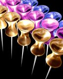 Colorful pins chains Stock Photos