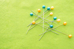 Colorful pins. Stock Photo