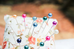 Colorful pins Royalty Free Stock Photo