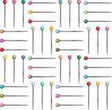 Colorful Pins Seamless Pattern Stock Photos