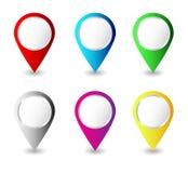 Colorful pins Vector Stock Photos