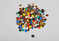 Colorful Pins Royalty Free Stock Photography