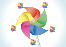 Colorful pinwheel Stock Photos