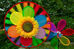 Colorful pinwheel Stock Photos