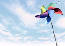 Colorful Pinwheel On Blue Sky Perspective Royalty Free Stock Photography