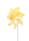 Colorful pinwheel isolated on white Stock Photos