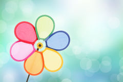 Colorful pinwheel toy Royalty Free Stock Images
