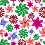 Colorful pinwheel toys seamless pattern eps10 Royalty Free Stock Image