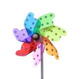 Colorful pinwheel on white background Royalty Free Stock Image