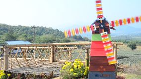 Colorful Pinwheel or windmill stock video