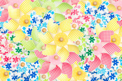 Colorful pinwheels background Stock Photos
