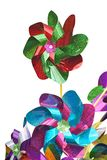 Colorful Pinwheels, children toy on a white background Royalty Free Stock Images