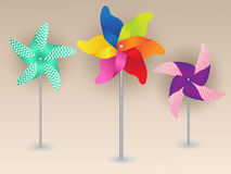 Colorful Pinwheels Design Royalty Free Stock Photo