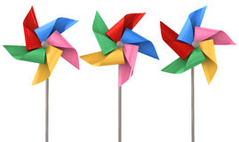 Colorful Pinwheels Isolated Royalty Free Stock Image