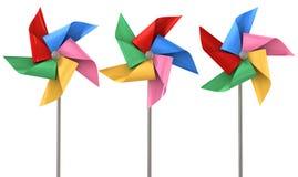 Colorful Pinwheels Isolated Royalty Free Stock Image