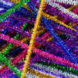 Colorful pipe cleaners. Brightly colored and sparkling pipe cleaners royalty free stock image