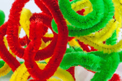 Colorful pipe cleaners Royalty Free Stock Image