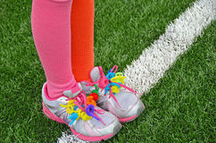 Colorful pipe cleaners on sport shoes Stock Photography
