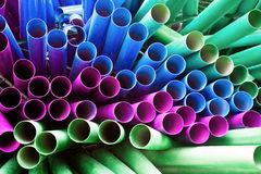 Colorful pipes. Many colorful pipes for decoration Royalty Free Stock Photo