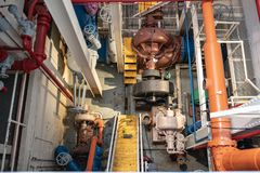 Hydro electric power generation facility stock image