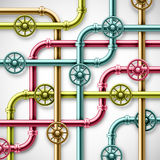 Colorful pipes. Colorful metal pipes. eps 10 Stock Image