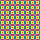 Colorful Pixel Background. Retro computer game repeating pattern Royalty Free Stock Photography