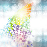 Colorful Pixel Background stock illustration