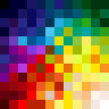 Colorful pixels. Fun and very colorful series of squares or pixels in all the colors of the spectrum, from light to dark Royalty Free Stock Photo