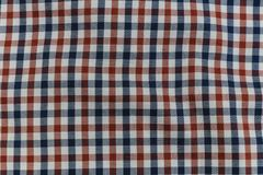 Colorful Plaid Pattern on Fabric Stock Photos