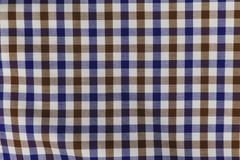 Colorful Plaid Pattern on Fabric.  Stock Images