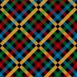 Colorful plaid tartan on black background. vector illustration. Eps10 royalty free illustration