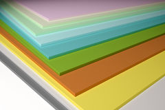 Colorful plain chipboard. An image of some colorful plain chipboard Royalty Free Stock Photo