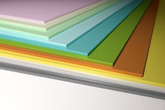 Colorful plain chipboard Stock Photography