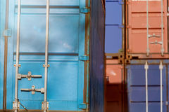Colorful plain shipping containers Stock Photography
