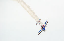 Colorful Plane in an air  show Royalty Free Stock Image