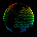 Colorful planet Earth over black background Stock Image