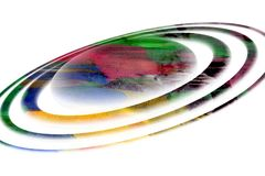 Colorful planet on white background Royalty Free Stock Photos
