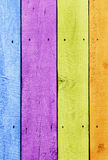 Colorful planks Royalty Free Stock Images