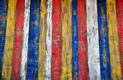 Colorful planks background Stock Images