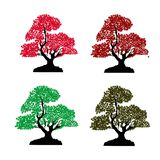 Colorful plants royalty free illustration