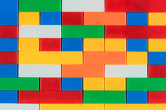 Colorful plasctic building block. Toy for children,texture background Royalty Free Stock Photos