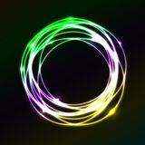 Colorful plasma circle effect  background Royalty Free Stock Images