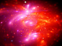 Colorful plasma lines with particles in space, computer generate Stock Photography